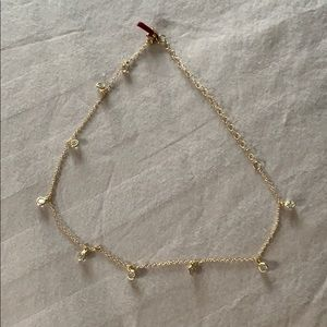 Jewelry - Gold chain choker with crystals